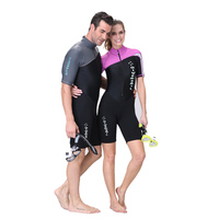 Couples Sets Men And Women Siamese Sunscreen Diving Suits Quick Drying Short Sleeved Swimwear Swimsuits Swim