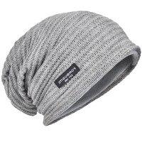 HISSHEผู้ชายคลาสสิกผ้าฝ้ายนุ่มยืดถักหมวกหมวกหลุบSkulliesหมวกที่มีคุณภาพสูงฤดูหนาวสกีUnisexหมวก