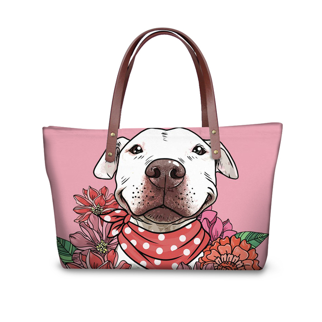 Noisydesigns 2018 Original Fashion Pu Leather Women Per Pit Bull Terrier Designer Bag Canada Handbags For