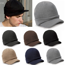2016 New Unisex Knitting Beanie Hat Peaked Warm Winter Casual Outdoor Cap