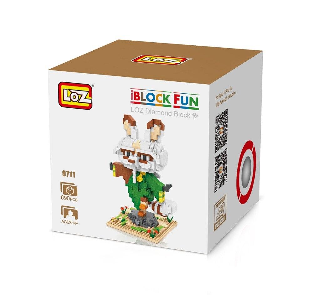LOZ 9711 Kung Fu Panda The Furious Five Master Shifu Diamond Bricks Minifigures Building font b