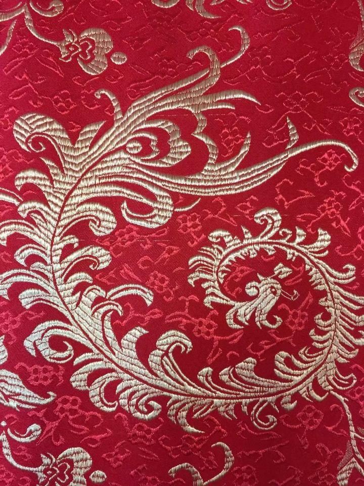 8 Meters/pc offre spéciale rouge coton africain tissu et or phoenix motif broderie suisse voile dentelle pour vêtements JC21-3 - 2