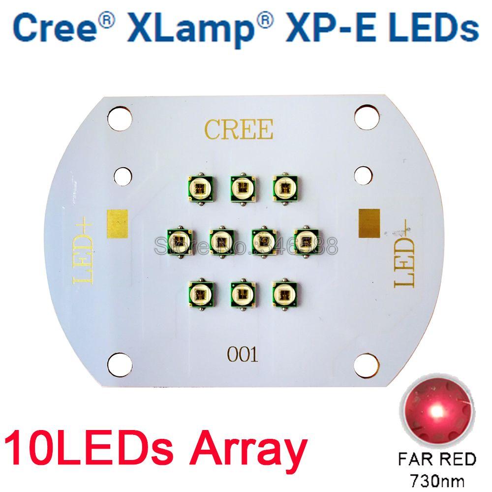 CREE XLamp XPE XP E 30 Вт Дальний Красный 730nm Светодиодная лампа для роста растений диодный излучатель света 10LED мульти чип массив для комнатных садов