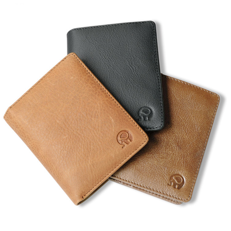 Genuine Leather Thin Leather Wallets for Men Women Short Cowhide Wallet and Purse Card Holder Simple Business Cards Case simline fashion genuine leather real cowhide women lady short slim wallet wallets purse card holder zipper coin pocket ladies