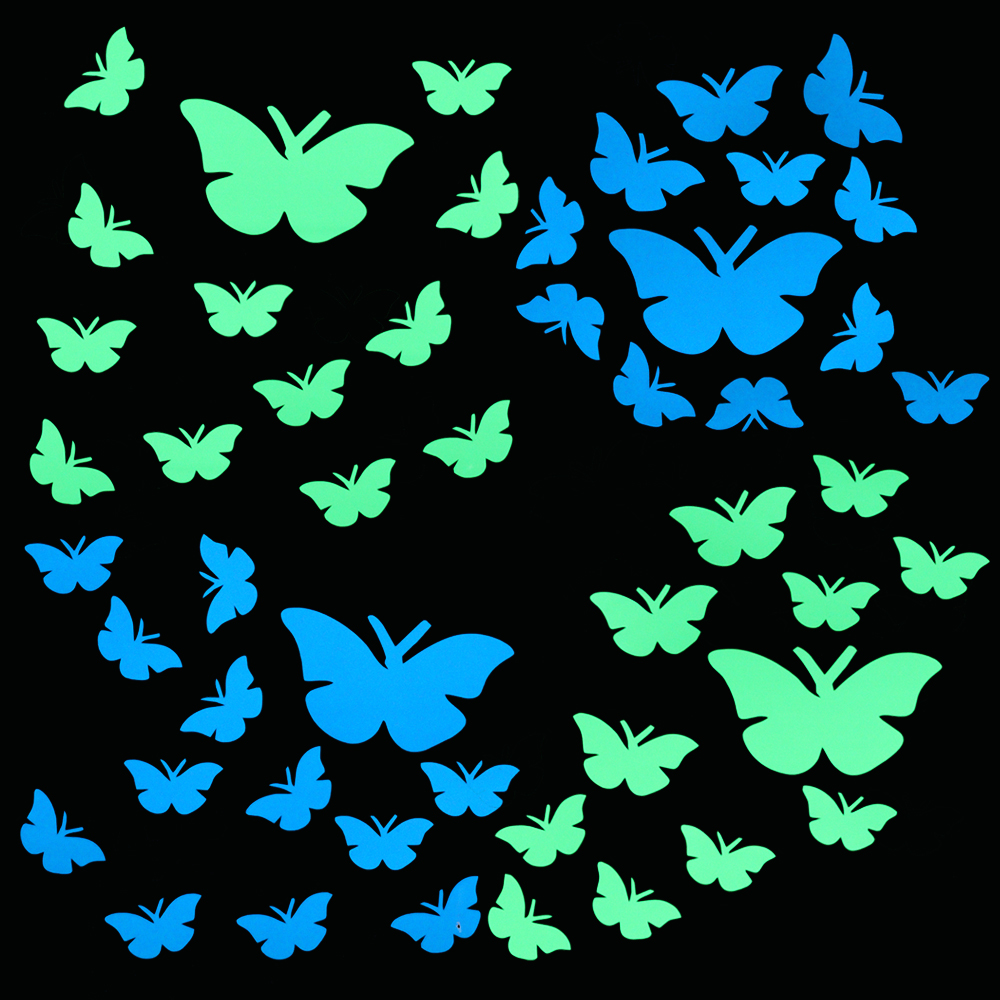 Luminous Butterfly Stickers Living Room DIY Decoration Decals Home Decor Glow in the Dark Wall Sticker Kid Bedroom DIY Wallpaper