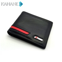 Genuine Leather Sline Car Drivers Wallet License Bag Credit Card Case For Audi A3 8P 8L