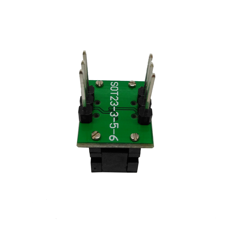 SOT23 3 0.95クラムシェルpogoピンプローブテストソケットSOT23 3 0.95 CP01PNLプログラミングソケットピッチ0.95チップサイズ1.3*2.8ミリメートル  グループ上の ライト & 照明 からの コネクタ の中 3