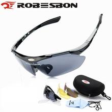 ROBESBON Professional Cycling Glasses UV400 Bike Bicycle Sunglasses Eyewear MTB Bike Goggles Sunglasses Las gafas 3 Lens