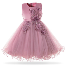 Mottelee Pink White Flower Girl Wedding Dress Kids Formal Party Ball Gown Frock For 3-10 Year Children Birthday Princess Dresses girl s formal dress 2018 flower wedding dresses kids gauze birthday evening party ball gown children s princess dress pink 2 13y