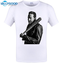 IALLYGOOD STUDIOS 2017 New Arrival Men's Fashion Walking Dead T-shirt Negan Lucille Men Tee Funny T Shirt Plus Size S-6XL