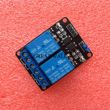 5pcs/lot 2-channel New 2 channel relay module relay expansion board 5V low level triggered 2-way relay module for arduino