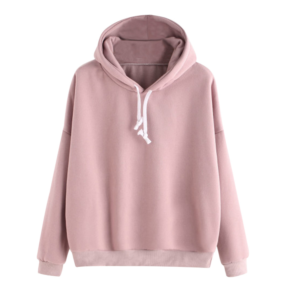 Spring Sweatshirts Women 2019 Pink Women's Gown With A Hood Hoodies Ladies Long Sleeve Casual Hooded Pullover Clothes Sweatshirt
