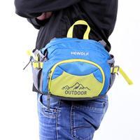 Casual Waterproof Nylon Unisex Waist Bag Riding Travel Multi Functional Belt Pack Men Cross Body Bag