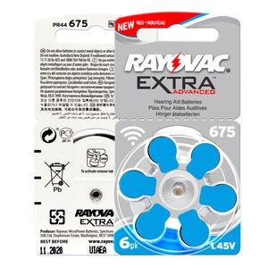 Image 3 - 60 sztuk/1 paczka Rayovac dodatkowe baterie do aparatów słuchowych Zinc Air 675A 675 A675 PR44 bateria guzikowa do aparatów słuchowych