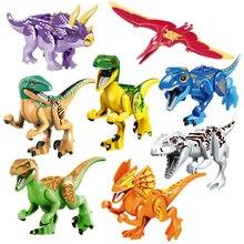 Jurassic World Dinosaur Building Blocks Figures Legoings Marvel Moive Colorful Dinosaur Figures Bricks Toys For Children Gifts