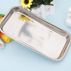 Image 5 - 1PC Stainless Steel Cosmetic Storage Tray Nail Art Equipment Plate Doctor Surgical Dental Tray False Nails Dish Tools