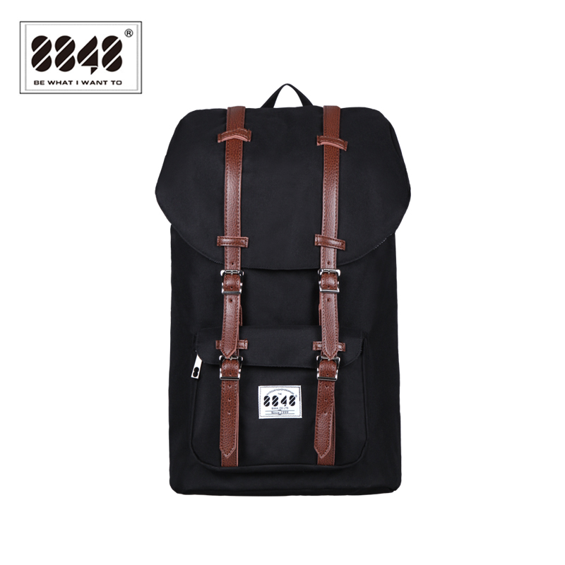 8848 Brand Black Upgrade font b Backpack b font Men s Fashion Knapsack Factory Direct Sale