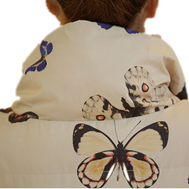 Long Épaissir Et Parkas Chaude La Veste Plus Hiver Moyen Femelle Lxt31 Vestes Mode Nouvelle Papillon Manteaux Beige Taille black Manteau Imprimé T1x0nqfw