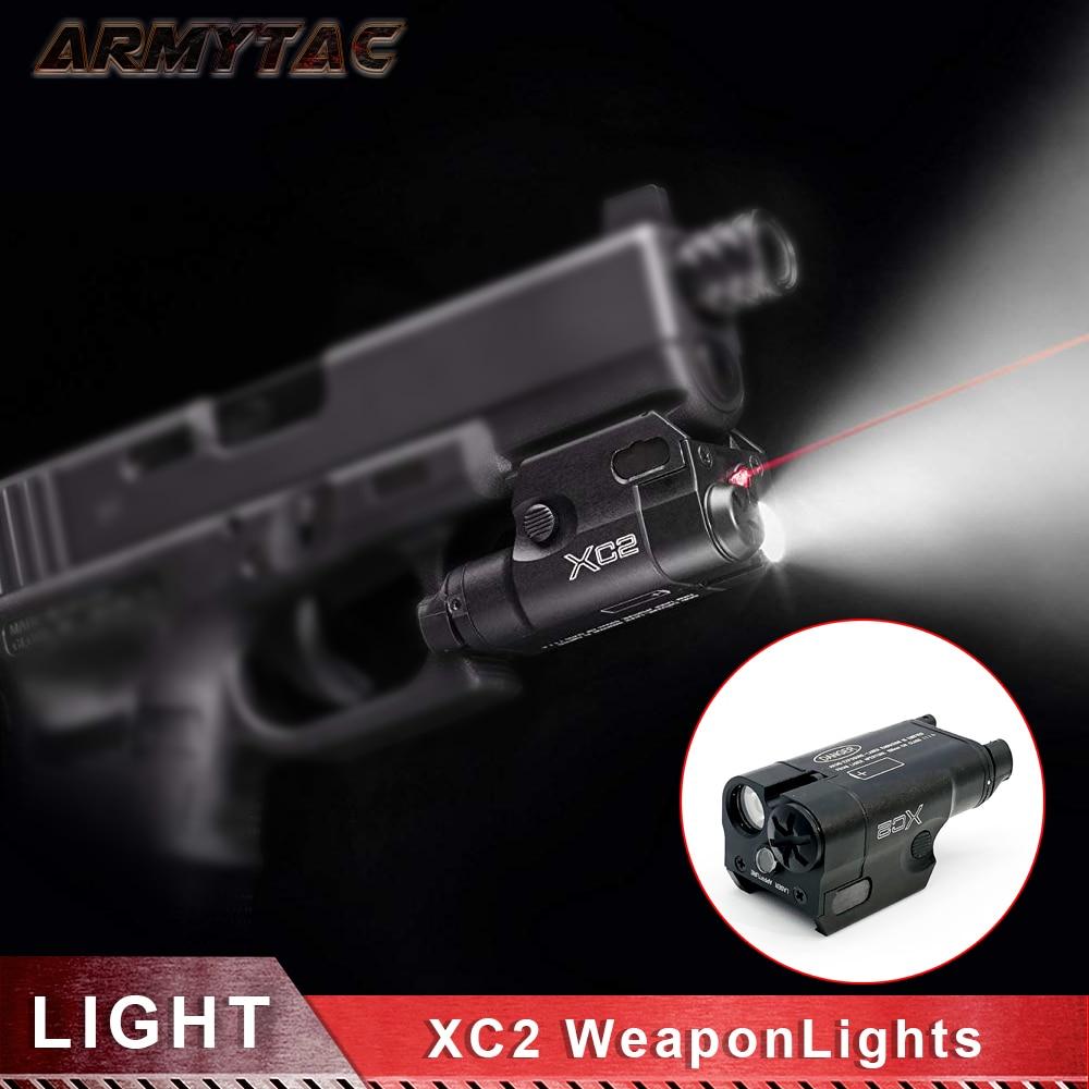SF XC2 armes à feu lumière compacte de pistolet à main avec des commutateurs d'activation constants améliorés lampe de poche avec Laser à point rouge