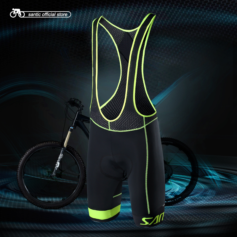 Santic Men Summer Cycling Bib Shorts Cycling Jersey Shorts Cool max Italian Cushion Pad S-3XL M7C05081 цена 2017