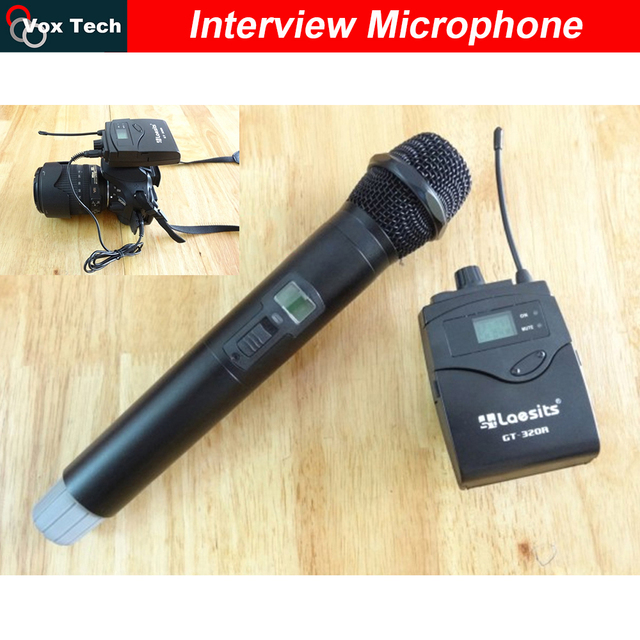 Беспроводной ручной Микрофон беспроводной передатчик кронштейн для Камеры Видео съемки, репортер интервью UHF микрофон системы