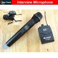 Transmisor de Micrófono inalámbrico de mano inalámbrico soporte para la Cámara de grabación de Vídeo, reportero entrevista UHF sistemas mikrofon