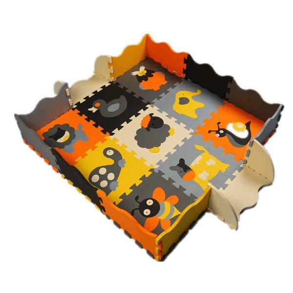 Mei qi cool bébé tapis de sol EVA animaux tapis de sol mousse ramper tapis enfants jouer tapis enfants puzzle tampons