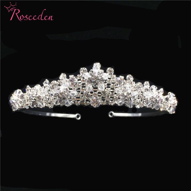 New Classic  Bride Wedding Hair Jewelry Handmade Bridal Crystal Tiara Crown Fashion Accessories Wholesale RE3287