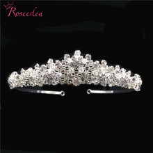 New Classic  Bride Wedding Hair Jewelry Handmade Bridal Crystal Tiara Crown Crystal Fashion Accessories Wholesale RE3287 baroque fashion party crystal crown jewelry womens gold multicolor tiara wedding bride bridal hair accessories blue silver crown