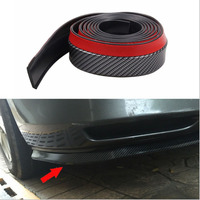 Carbon FiberCar Rubber Surrounded By Anti Collision Tape 2 5M Rubber Carbon Fiber Front Lips Before