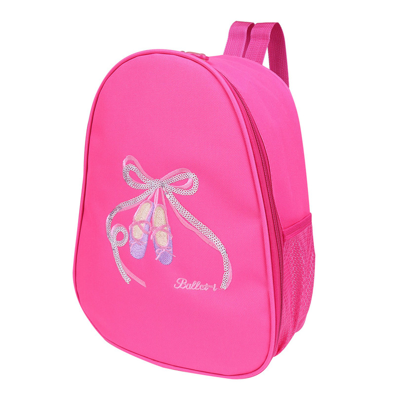 Adorable Kids Girls Ballet Bag Backpack Toe Shoes Embroidered Shoulder Bag Girls Ballerina Ballet Dance Bag Backpack for Dancing