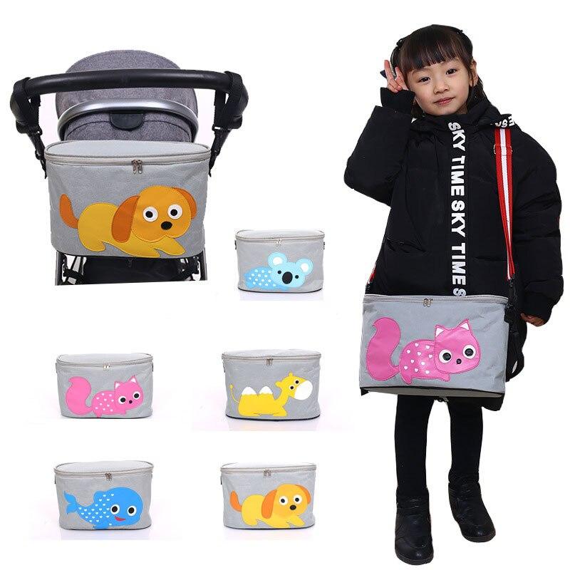 Universal Multi-function Baby Stroller Bag Multi-pocket Cartoon Hanging Bag Baby Carriage Storage Bag Stroller Organizer Basket цена 2017