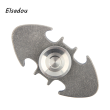 Elsadou Silver Batman Hand Spinner Metal Fidget Toys Finger Spinner