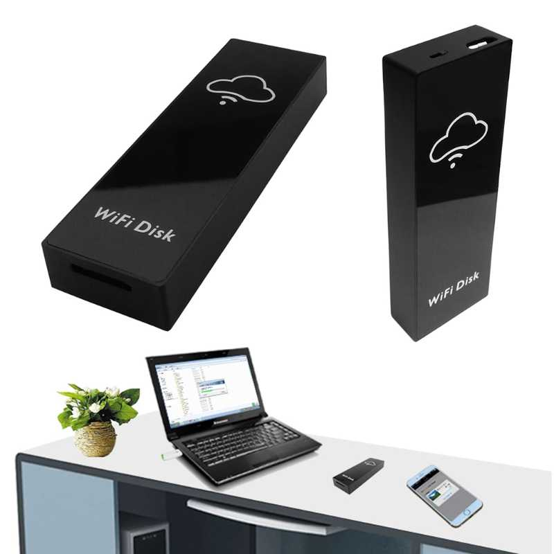 Wi-Fi жёсткий диск запоминающее устройство коробка жесткого диска TF/MicroSD карты кард-ридер общий доступ к файлам Новинка; Лидер продаж
