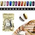 Мода, дизайн ногтей блеск Голографическая зеркало порошок хром, лак для ногтей nail art блеск Отражая Пигмент Блестит Маникюр
