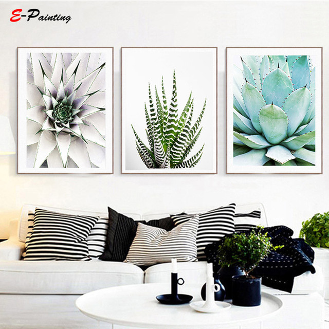 Modern Wall Art Succulent Print Cactus Canvas Painting Printable Plant Decoration Photo Living Room