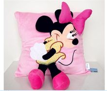 cute plush minny pillow toy lovely pink pillow doll wedding gift about 35x35cm