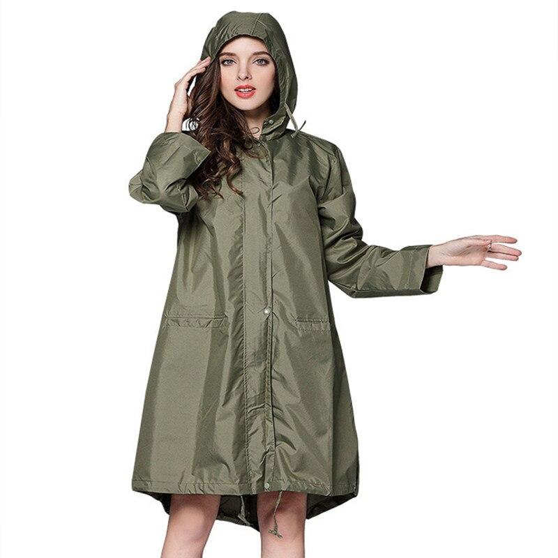 Raincoat Women Waterproof windproof hood Backpack Rain Coat Ponchos Jackets cloak Female Chubasqueros in Raincoats from Home Garden