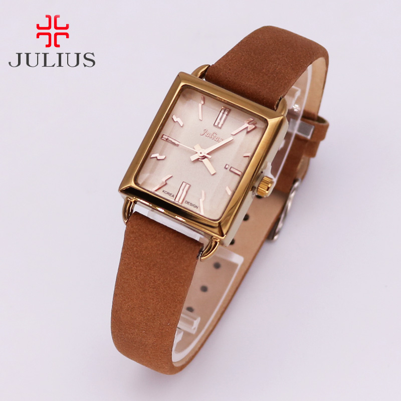 Top Simple Retro Women's Watch Japan Quartz Hours Fine Fashion Soft Leather Bracelet Girl Birthday Gift julius new simple cutting glass women s watch japan quartz hours fashion dress stainless steel bracelet birthday girl gift julius box