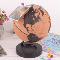 Cork Wood Tellurion Globe Marble Maps Globes Home Office Decoration World Map Inflatable Training Geography Map Balloon Gift