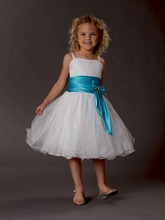 2019 Flower Girl Dresses Girl's Formal Occasion Sash A-Line Ribbon Knee Length Spaghetti Free Shipping Cheap Birthday Party Chil
