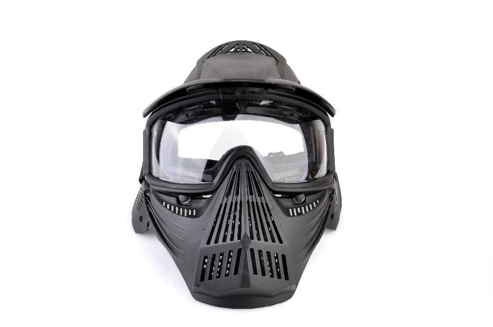Feuer-atemschutzmasken Gewidmet Vollgesichts Taktische Militärische Bbgun Wargame Zu Schützen Neck Draht Visor Außen Cs Transformatoren Ultimative Maske Stahlgitter