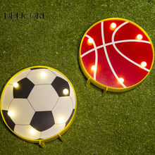DELICORE Basketball Football Soccer ball Marquee Night Lamp table light best gift choice for ball fans sports enthusiast(China)