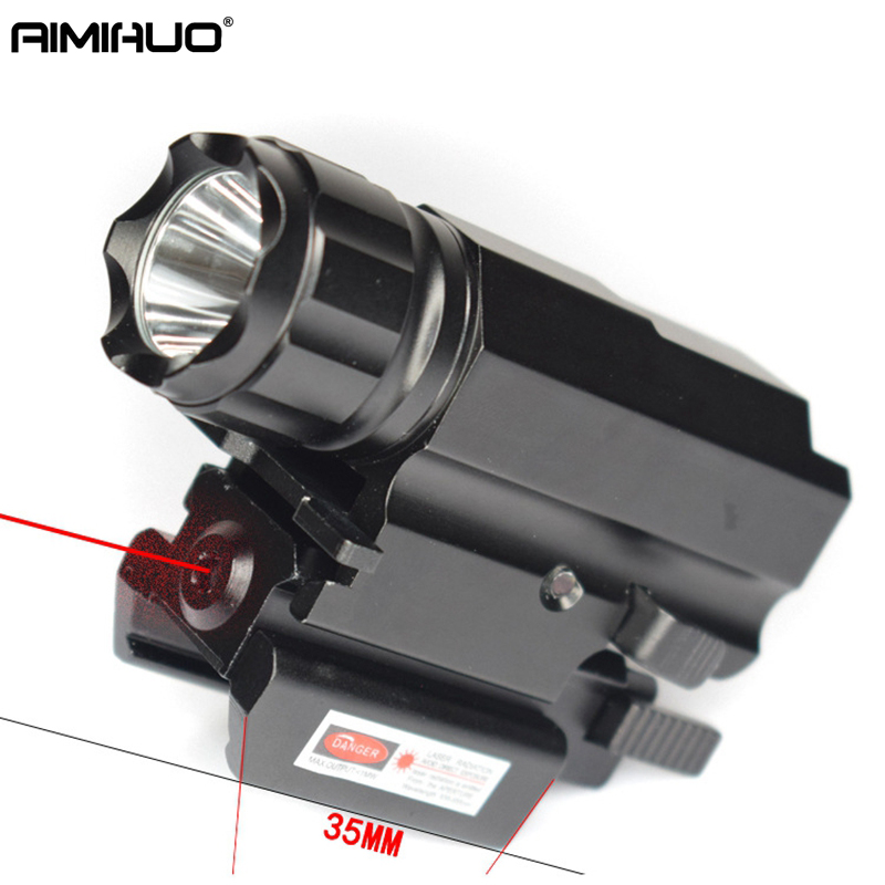 AIMIHUO LED Lanterna 800LM R5 LED Tactical Guide flashlight Waterproof Torch hunting lamp Laser Pointer Rechargeable Flashlight 3800 lumens cree xm l t6 5 modes led tactical flashlight torch waterproof lamp torch hunting flash light lantern for camping z93