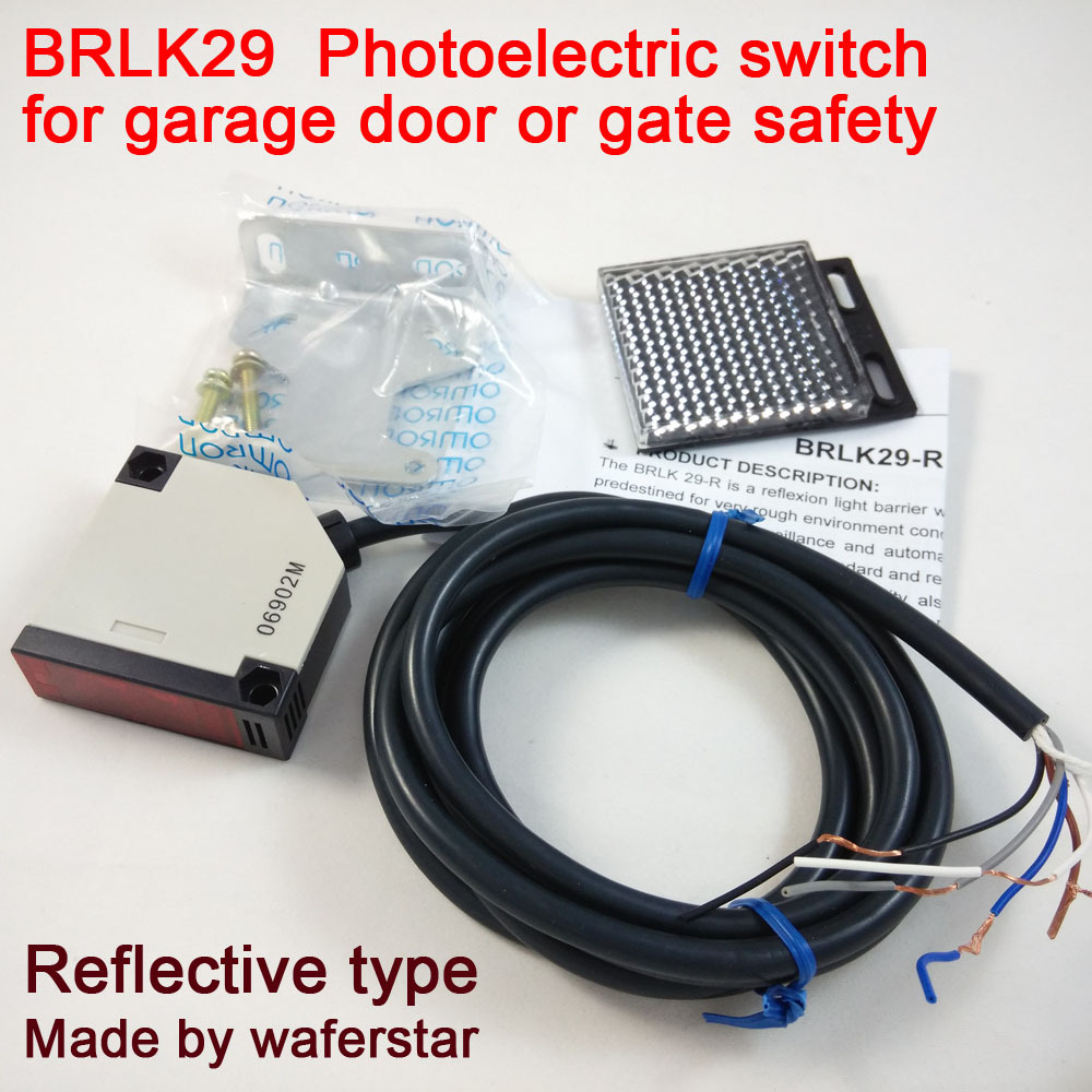 Photoelectric Switch Brlk29 Reflective Beam For Gate Safety Wiring