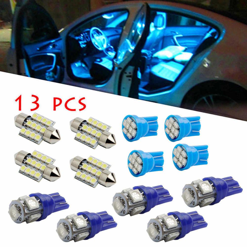 Alta Qualidade 13 Pc Luzes LED Kit Pacote Interior Azul Puro Para Dome License Plate Lamp Bulb Transporte Da Gota