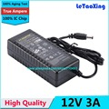 1pcs With IC Chip AC DC 12V 3A Power Supply Adapter 36W Switch For 5050 3528 LED Light LCD Monitor CCTV Without Cord