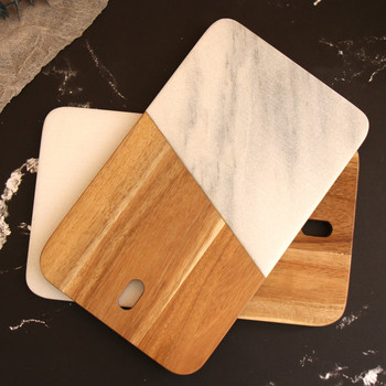 New natural marble plate Nordic home storage tray tide jewelry storage display disc marble pattern flat plate