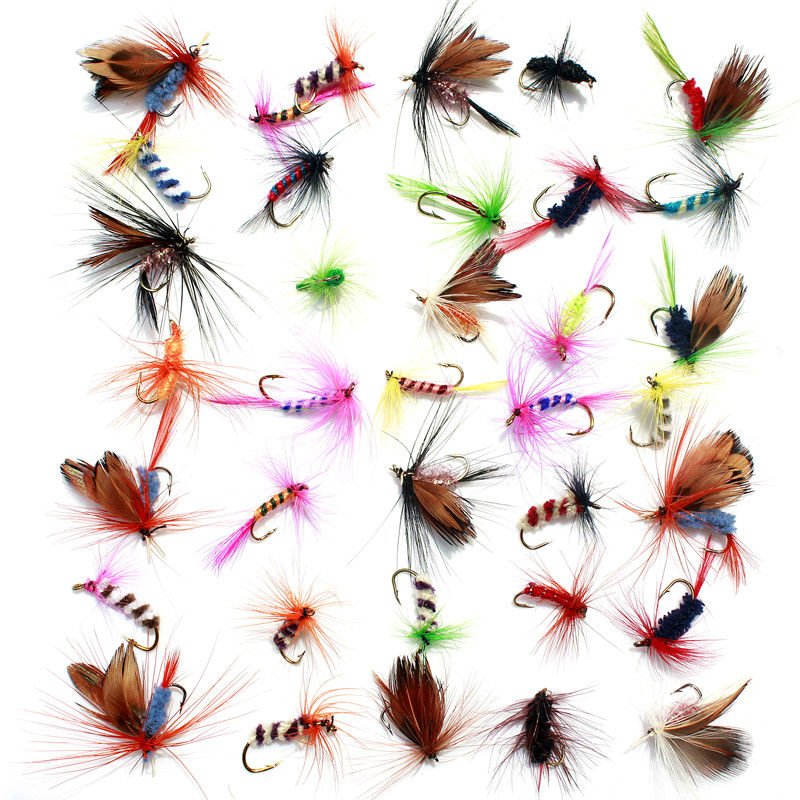 KKWEZVA 36pcs Lure Fly fishing Hooks Butterfly Insects Style Salmon Flies Trout Single Dry Fly Fishing Lure Fishing Tackle 10pcs beadhead pm caddis 14 nymphs dry fly fishing trout flies page 5