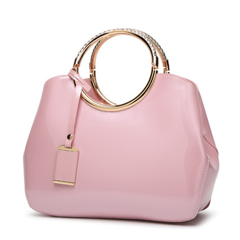 2019 fashion Handbag Women Bag Mirror surface Folding Large capacity Ladies Shoulder PU Square Ladies Bags female Casual Tote